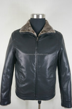 Good Quality Fashion Winter Men's Leather Coat Jacket