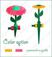 (84713) Watering garden sunflower sprinkler, cartoon style ABS sprinkler, plastic flower lawn sprinkler
