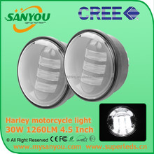 Sanyou 30W 1260lm black Harley LED Fog Light, 6000k led Fog Light, 4.5inch motorcycle light