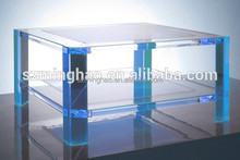 High quality color acrylic table, living room low height coffee table