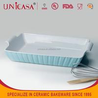 UNICASA factoty direct sale ceramic bakeware pan microwave pie plate