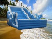 Hot!! commercial inflatable wet dry slide for kids