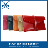 Fashion design first layer leather material mini briefcase small things leather cover office leather clutch bags