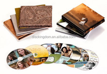 Wholesale 8cm mini CD replication printed CD wooden boxes