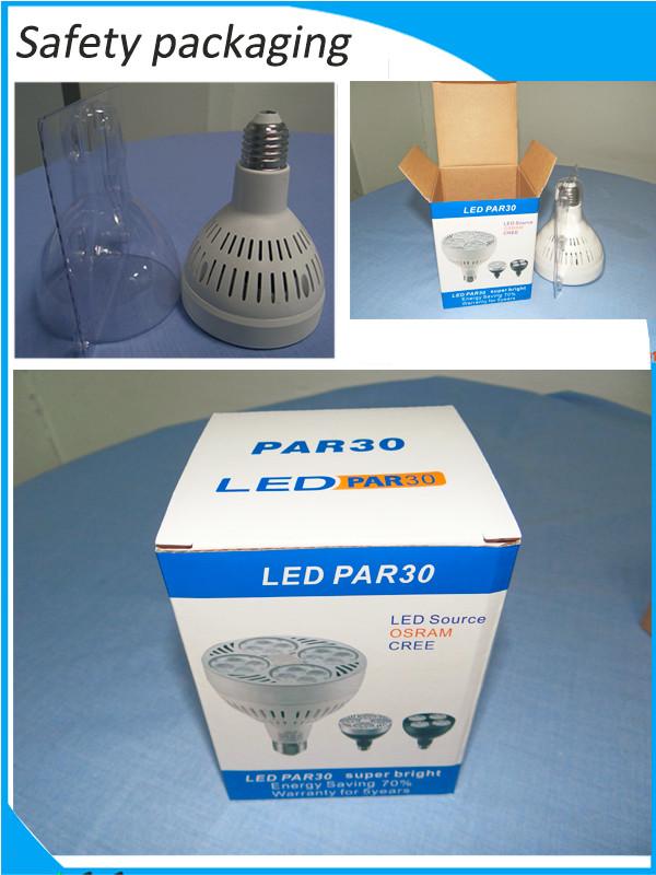2015 hot sale and high quality OSRAM PAR30 25W 35W 38W 40W led par light,par30 light,purple led spot light