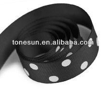 Solitary Blak Printing Polka Dot Grosgrain Ribbon For Lonely and Single