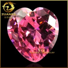 lab created synthetic gems heart shpae pink gems