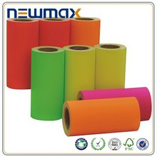 china wholesale manufactory fluorescent color paper in roll