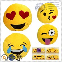 Hot selling new design cheap custom plush emoji pillows