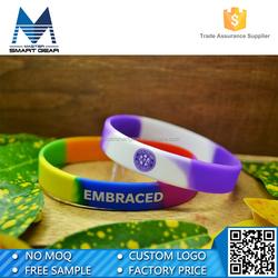 Colorful printing bulk cheap wristband silicone