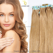 good quality water proof virgin human cheap double drawn wholesale tape hair skin weft