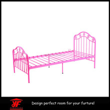 top popular beautiful metal bed frame bedroom furniture single steel bed designs on sale