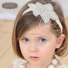 Baby Rhinestone Bling Crystal Headbands Newborn Christening Headband Baby Girl Rhinestone Headband