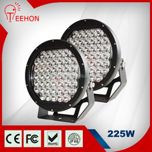 "225W 10"" 45 LED Outdoor/4x4 Off Road Rally/Rescue/Work Round Flood Light + Switch"