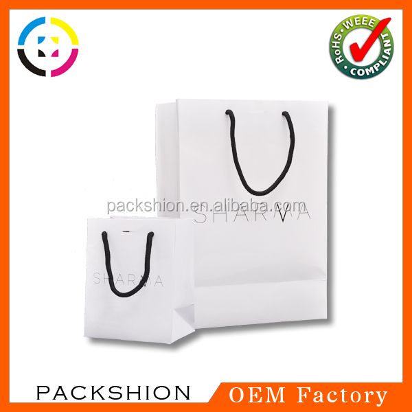 300G coated paper shopping bag with glossy lamination