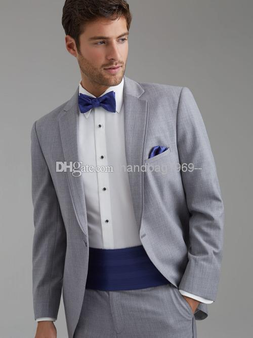 Light Grey Tuxedo Suit Light Grey Groom Tuxedos