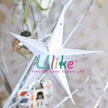 2014 newly hanging paper star light Shining star lamp garden decoration materials