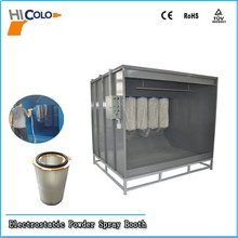 Fast Color Changing Used Powder Spray Booth for Powder Coating Industrial