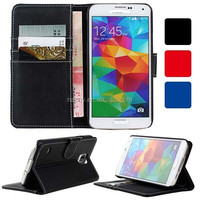 High Quality Folio Leather Shell for Samsung Galaxy S5 i9600 Phone Case