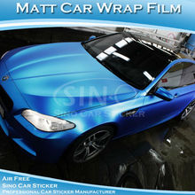 SINO CAR STICKER Air Bubble Free Matt Pearl Blue Car Wraps Vinyl