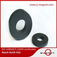 Permanent Y10T Ferrite Ring Magnet Radial Magnetization