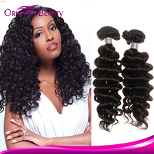 Made In China deep wave hairstyles for black women unprocessed wholesale virgin malaysian hair,deep curl remy human hair.