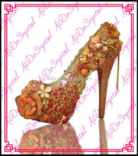 Aidocrystal handmade women high heel shoes ladies evening Italian leather high heels shoes