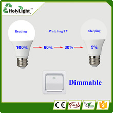 Dimming Switch Smart LED bulb CE ROHS Approval 6W High Lumen
