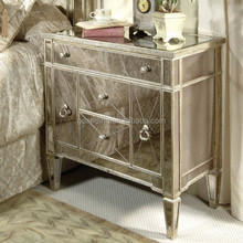 Antique European style mirroed furniture bedroom/living room cabinet