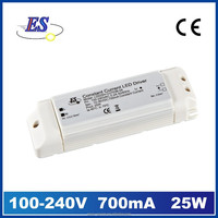 25W 700mA AC-DC Constant Current LED Driver Power Supply with waterproof ip65