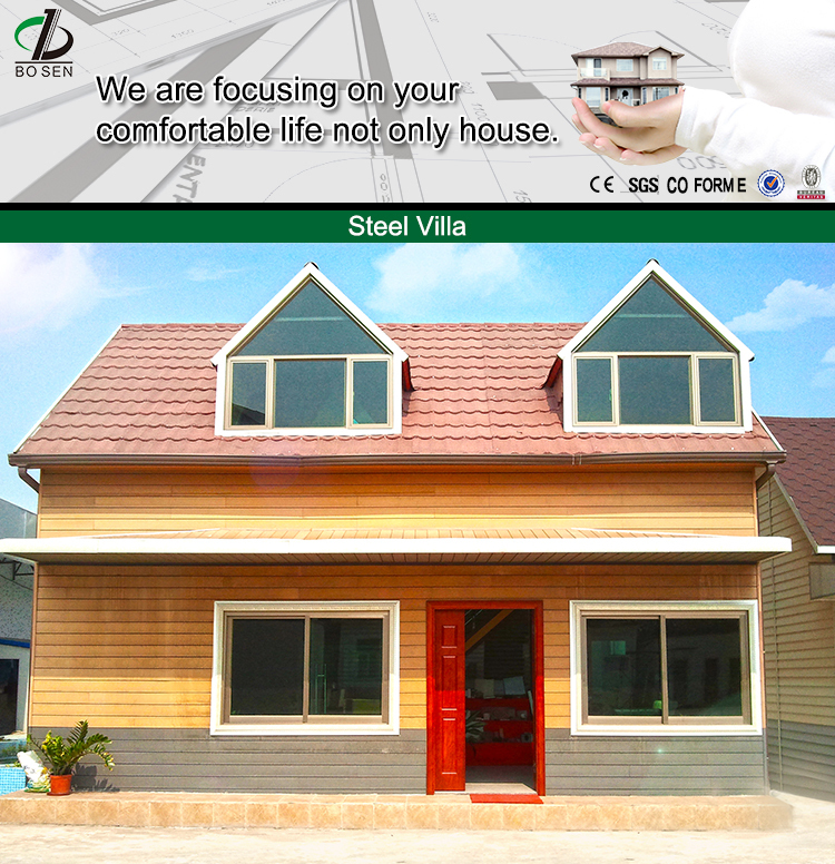 real estate family prefab house china villa prefabricated hotel price direct selling