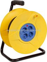 H05VV-F 2X1.0MM2 France retractable cable reel, High Quality Steel Cable Reel
