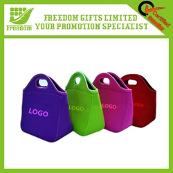 Promotional Cooler Insulated Office Neoprene Lunch Bag With Zipper