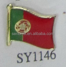 Low Price Portugal Flag Badge From Producer