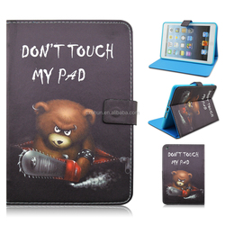Don't Touch My Pad Pattern Magnetic Smart Folio Wallet Case with Sleep/Wake Feature for iPad Mini / Mini Retina / Mini 3