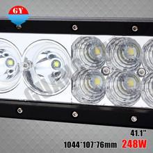 Good news,248w combo 4x4 led light bar,led 4x4 light bar,more bright