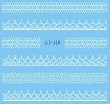 White Lace Sticker Cute Sticker Nail Art Sticker NAIL ART STICKERS DECALS BLACK & WHITE FAIRIES & LACE #404