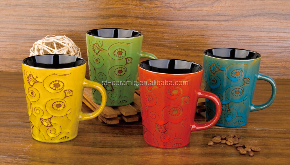 New products 2015 eco-friendly ceramic glazing coffee cups as seen on tv