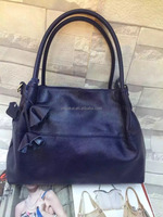 Leather office bags for women with tassels