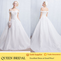 2015 Latest Simple Cap Sleeve Ball Gown Wedding Dresses Country Style with Long Tail
