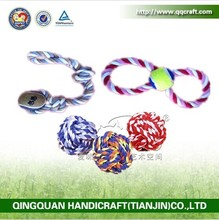QQFactory Wholesale dog chew pet toy with rope