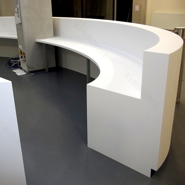 Solid surface round reception desks for salons buy for Solid salon