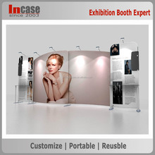 Aluminum tube tension fabric advertising backdrop display stand