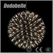 Industrial moderno firework bola forma estilo romântico pingente lâmpada / iluminação