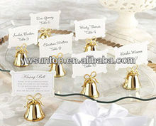 Wedding decoration Gold Kissing Bell Place Card Photo Holder