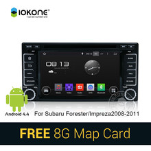 Android 4.4 pure 3g wifi car dvd stereo radio player with gps navigation for Subaru Forester/Impreza 2008-2011