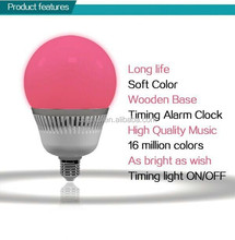 Red led bulb music coming out from tiny body enjoy your music world with light