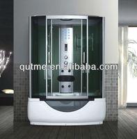 Mirror Tempered Glass Steam Shower Room
