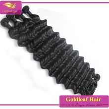 2016New products Top quality brazilian loose deep wave hair weave