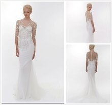 2012 New Arrival Vogue White Satin And Lace Floor Length Lace Cover Up for Wedding Dress--WD1214